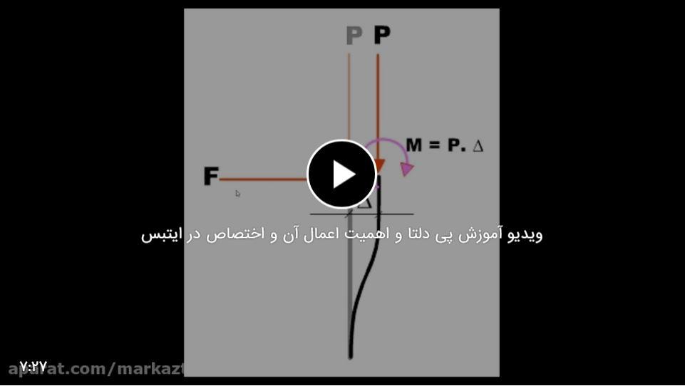 اثر پی دلتا چیست ؟ (و ویدیو نحوه اعمال در ایتبس)